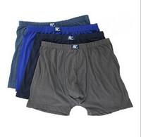 Wholesale 100%Cotton Boxer Shorts Middle-Aged Elderly Loose Shorts Cuecas Nutty Breathable Cotton Underwear Men Trouser  Njh17