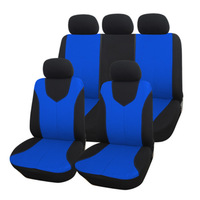NEW 9PCS/SET Front Rear Car seat covers Cellular Net Fabric Universal Car Styling