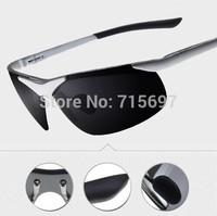 2015 Lovey High quality Men's 6806 aluminum-magnesium sunglasses driver sports goggle polarized sun glasses