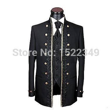 [EVENT] Costume de la St-Valentin (Février 1990) Groom-font-b-Tuxedos-b-font-font-b-Black-b-font-Stand-Collar-Best-Man-Groomsman