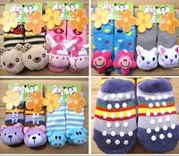6Pairs/lot  Lovely Animal Pattern Available Anti-slip Walking Socks Baby Sock Kid Gift Christmas Children #01009