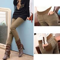 Winter plus velvet thickening legging women's plus size pencil pants warm female Long trousers Free Shipping
