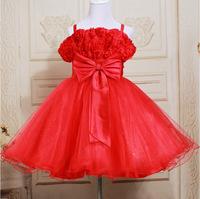 Kids girls summer 2014 new Korean children dress princess dress veil big swing   suspenders