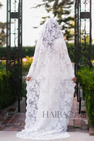 In Stock High Quality Lace Custom Made 2M Bridal Veil