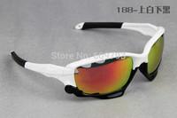 2015 NEW Brand  Bicycle Jawbone Cycling Eyewear Glasses Sport Sunglasses UV400 3 Lens Polarized Sporting Sun Glasses Goggles