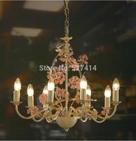 American Village antique crystal chandeliers living room dining room European-style garden project simple modern IKEA chandelier