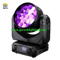 4pcs with fly case /lot disco led lighting ,dmx led professional lights 19*12w led moving dj lights