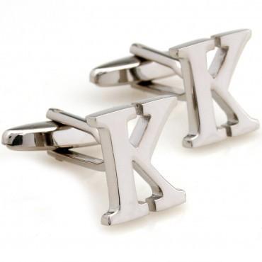 letra do alfabeto k cufflink abotoaduras 4 pares atacado frete grátis(China (Mainland))