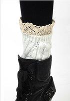 Luxury Women Crochet Knitted Lace Trim Boot Cuffs Toppers Liner Leg Warmers Sock