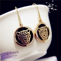 Fashion and the wind leopard Head Earrings Personality delicate exaggeration major suit Earrings Free Shipping