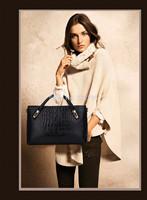 New European and American STYLE fashion crocodile embossed Cowhide leather handbag lady shoulder bag