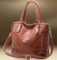 Hot Sale New 2014 Fashion Brand Women Handbag Leather Shoulder Bags Women The Female Leather Bag Retro Bags Messenger Vintage 18