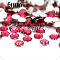 Free shipping Plum/Rose color Wholesale 3000pcs SS30 6mm Flatback Resin rhinestones,nail art  rhinestones,DIY phone case deco
