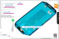 Faceplate housing Bezel Frame Replace for damaged  Blue scratch Broken Samsung i9300 Galaxy S3 panel covers Original Free ship