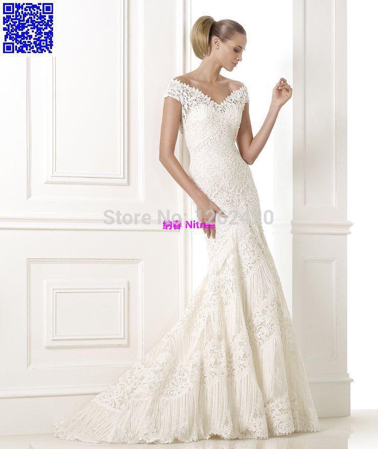 2015CelineBridal Fashion Collection Unique Sexy Vintage Luxury Designer Celebrity Romantic Wedding Dresses Bridal Gowns Lace CL1(China (Mainland))