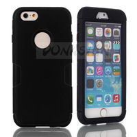 10 pcs/lot 2014 New fashion luxury 3in1 Hybrid Shock Proof Heavy Duty Defender Case Cover for iphone6 plus 5.5 inch