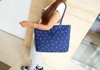 2014 new fashion leather hasp shoulder bag/flower printed canvas bag/ hand bag for women