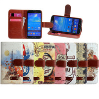Fashion Wallet S4 Flip Style PU Leather Case For Samsung Galaxy S4 i9500 Phone Bag With Stand & Card Holder pouch