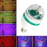 2014 fashion 3W E27 RGB Crystal Ball Rotating LED Stage Light Bulb for Club DJ Disco Party