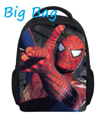 children spiderman school bags 2014 new cartoon spider man printing schoolbags kids backpack for girls&boys,mochila infantil(China (Mainland))