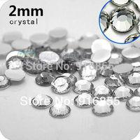 Free shipping fashion Wholesale 2mm 30000pcs/bag Crystal/Clear Resin Flatback rhinestones,nail art  rhinestones,DIY decoration