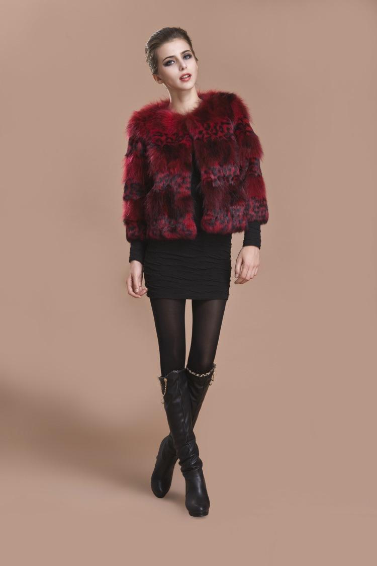 natural outono senhoras senhoras casaco casaco de pele de coelho gola de pele de guaxinim inverno mulheres de pele trincheira casacos outerwear leopardo plus size(China (Mainland))