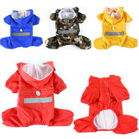 Dog Rain Clothing Waterproof Coat Jackets for Dogs Pet Products 5 Colors Breath Free Overall with Cap xs-2xl