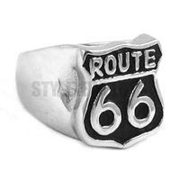 Free Shipping! Route 66 Ring Mother Road USA Highway Motor Ring Stainless Steel Jewelry Historic Route 66 Biker Ring SWR0277A