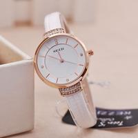 2014 New Fashion Women Quartz Watch Ladies Dress Watches Leather Strap Girls Square Casual Wristwatches
