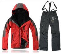 Brand men winter waterproof windproof hiking camping outdoor ski snow suit jacket sport coat pants