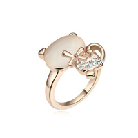 new brand design fashion woman sell well 18K gold opal ring cat ring 103166