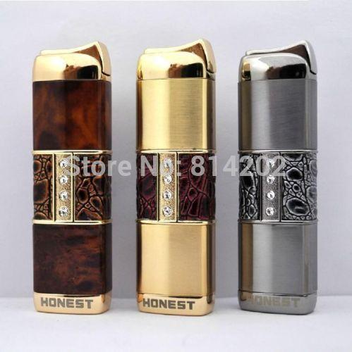 Honest Torch Cigarette Lighter Butane Gas Jet Flame Cigar Pipe Smoking Lighter(China (Mainland))