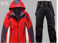 2014  ski suit set,winter outdoor sports ski jacket +ski pants,Thicken Waterproof ,for men