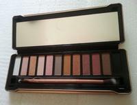 dhl ship 2014 hot brand new nake 5 makeup eyeshadow palette 12 colors NK5 Eye Shadow Brush makeup set free shipping