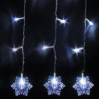 2014 New arrival 4M Snow Shape 120 led light strip Curtain Lamps String Fairy Lights Waterproof White for faster delivery