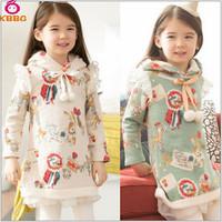 Retail 1 pcs Children Autumn Winter Cartoon Girls Hoodies Cotton Clothes For Babies Kids Printed Christmas Sweatshirts AB522