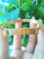 Wholesale Newest 2014 Stainless Steel Bracelet 18k Gold Plated Love Lasted Bracelet For Women