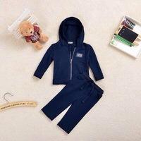 Retail  Brand  2014  New  fashion  spring/autumn  children's  set  long  sleeve  hooded  zipper  boy's  set  coat+pants
