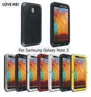 For Samsung Galaxy Note3 Original Love Mei Extreme Tough Powerful Case Anti-Knock Waterproof note 3 aluminium metal case