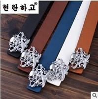 2014 hot new fashion designer brand men's casual classic men's belt buckle belt Smooth