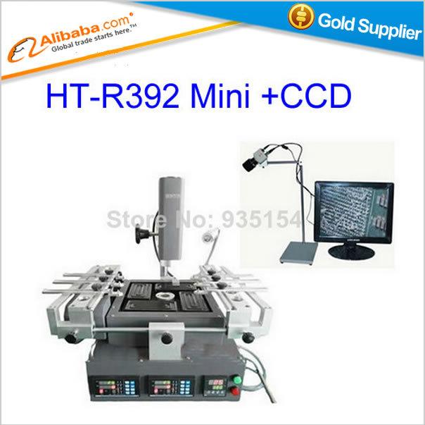 Free shipping!Hot sell HONTON BGA machine R392 mini hot air rework station bga welding machine+CCD camera with monitor(China (Mainland))