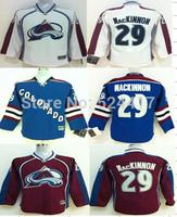 Youth Colorado Avalanche Hockey Jerseys #29 Nathan MacKinnon Jersey Home Burgundy Jerseys