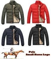 New autumn winter Men small embroidery horse Logo Polo down jacket/military colo Winter jacket/down-jacket Coat parka men
