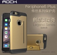For Apple iPhone 6 Plus Rock Legend Series Anti-knock Cell Phone Back Cover Protective Case Skin For iPhone6 Plus Free Shipping
