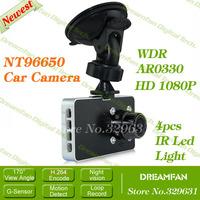 "Newest Original Novatek NT96650 HD 1080P 30FPS MF017 3.0"" LCD Car DVR Camera Recorder G-sensor Motion Detect Night Vision"