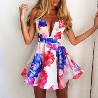 vestido de festa tropical women dresses 2014 new fashion summer flower print sexy dress vestidos casual free shipping
