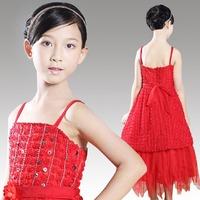 2014 New Hot Brand Baby Girls Dresses girls Princess Party Dress, Cute Frozen Tutu Qaulified Perform Cloth, Princesses Dress H24
