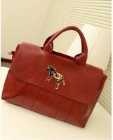 New Arrival 2014 Handbag One Shoulder Handbag Black Wine Red Color Pony bag