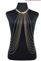 Min order is $10(mix order)2014 new arrived Europe Bikini body chain tassel chain fashion women body Jewelry