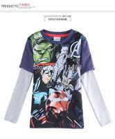 New European style children long sleeve cartoon T-shirt / high quality spring autumn coat for kids / boys tops